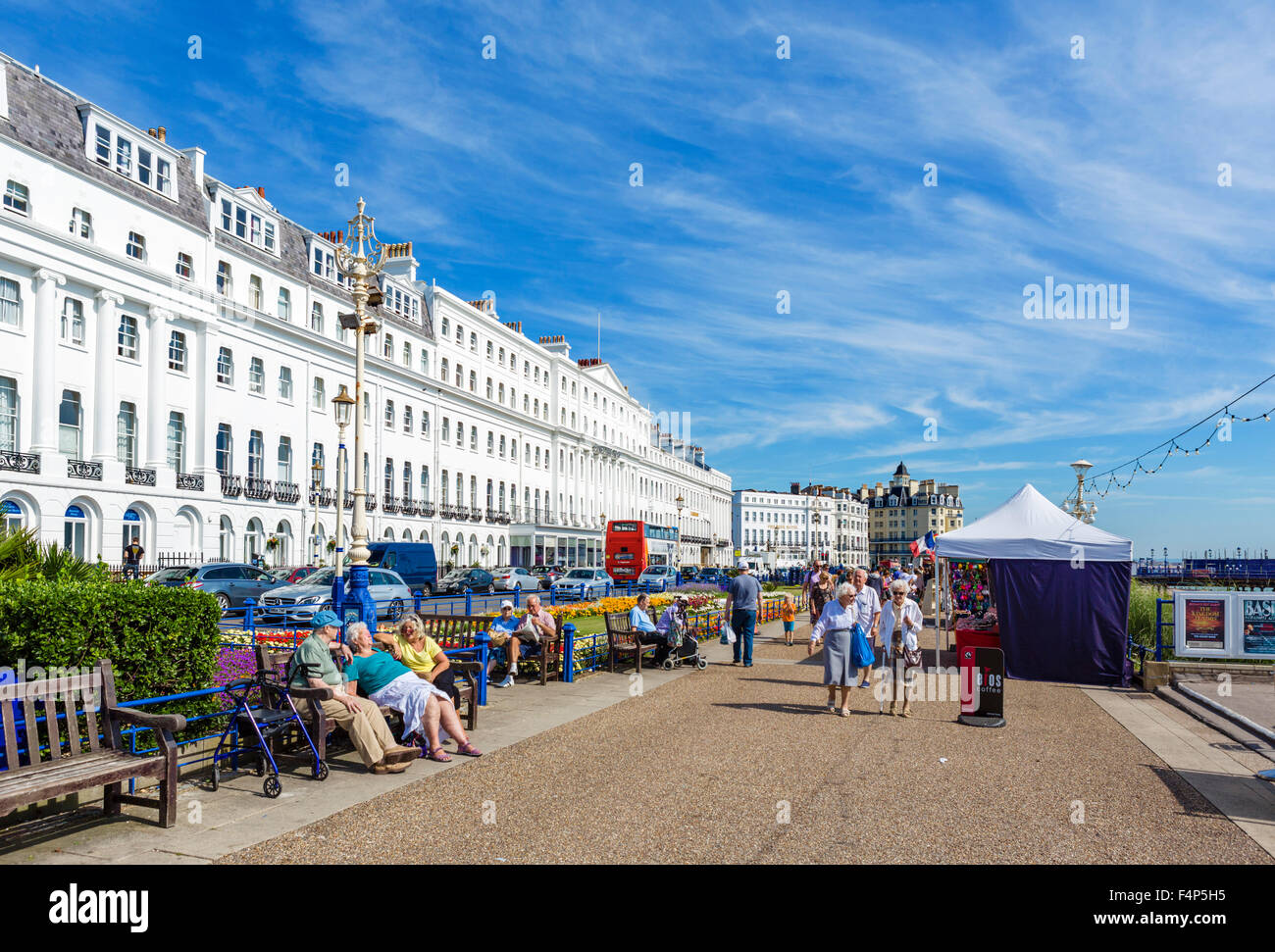 Grand Parade in Eastbourne, East Sussex, England, UK Stockbild
