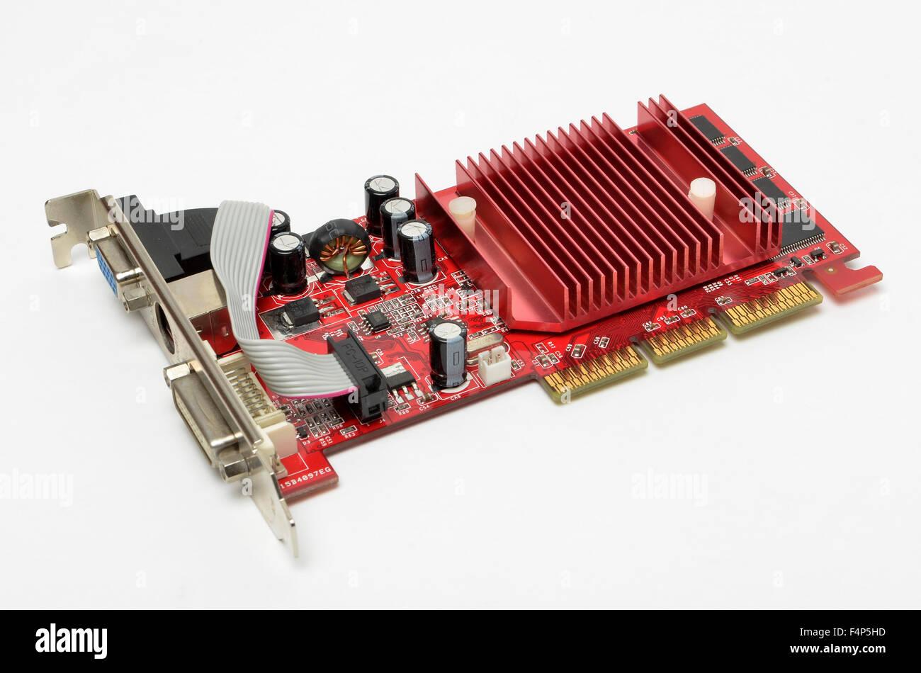 Gainward NVidia AGP-Grafikkarte. Stockbild