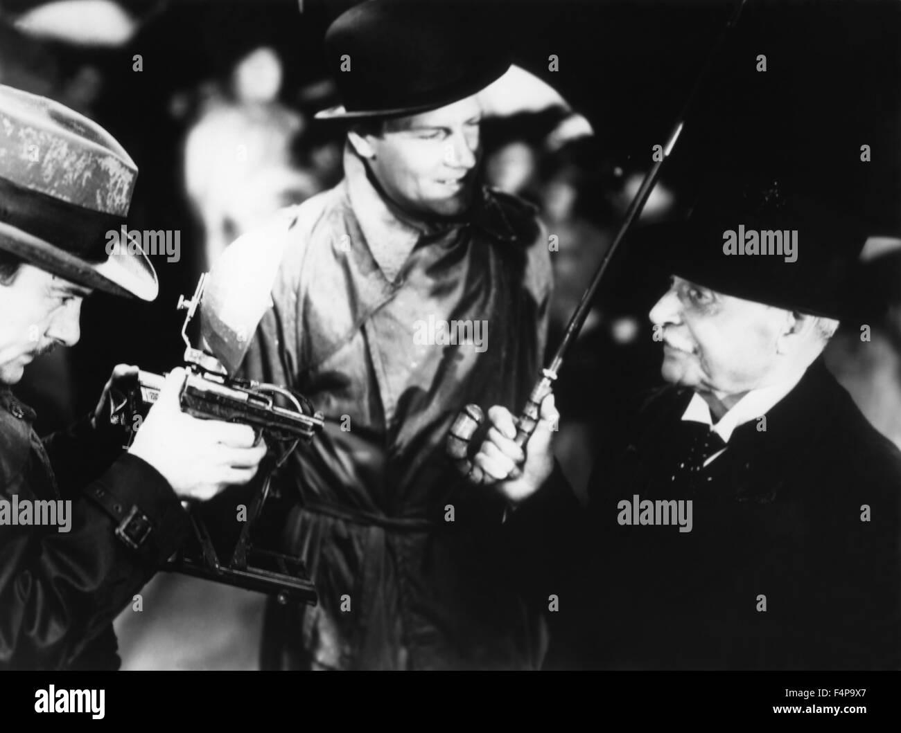 Joel Mc Crea / Auslandskorrespondent 1940 unter der Regie von Alfred Hitchcock Stockbild