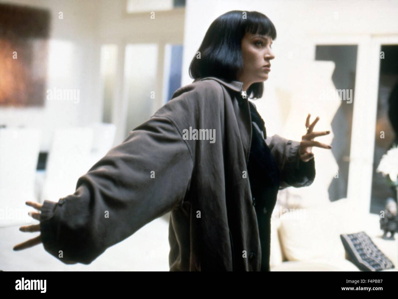 Uma Thurman / Pulp Fiction 1994 unter der Regie von Quentin Tarantino Stockbild