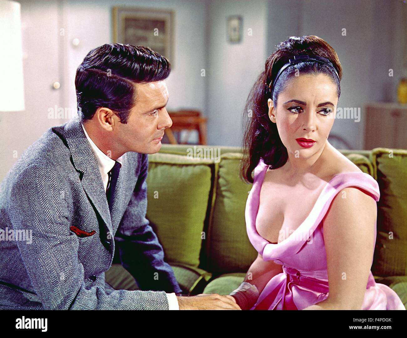Louis Jourdan, Elizabeth Taylor / The V.I.P.s 1963 unter der Regie von Anthony Asquith Stockbild