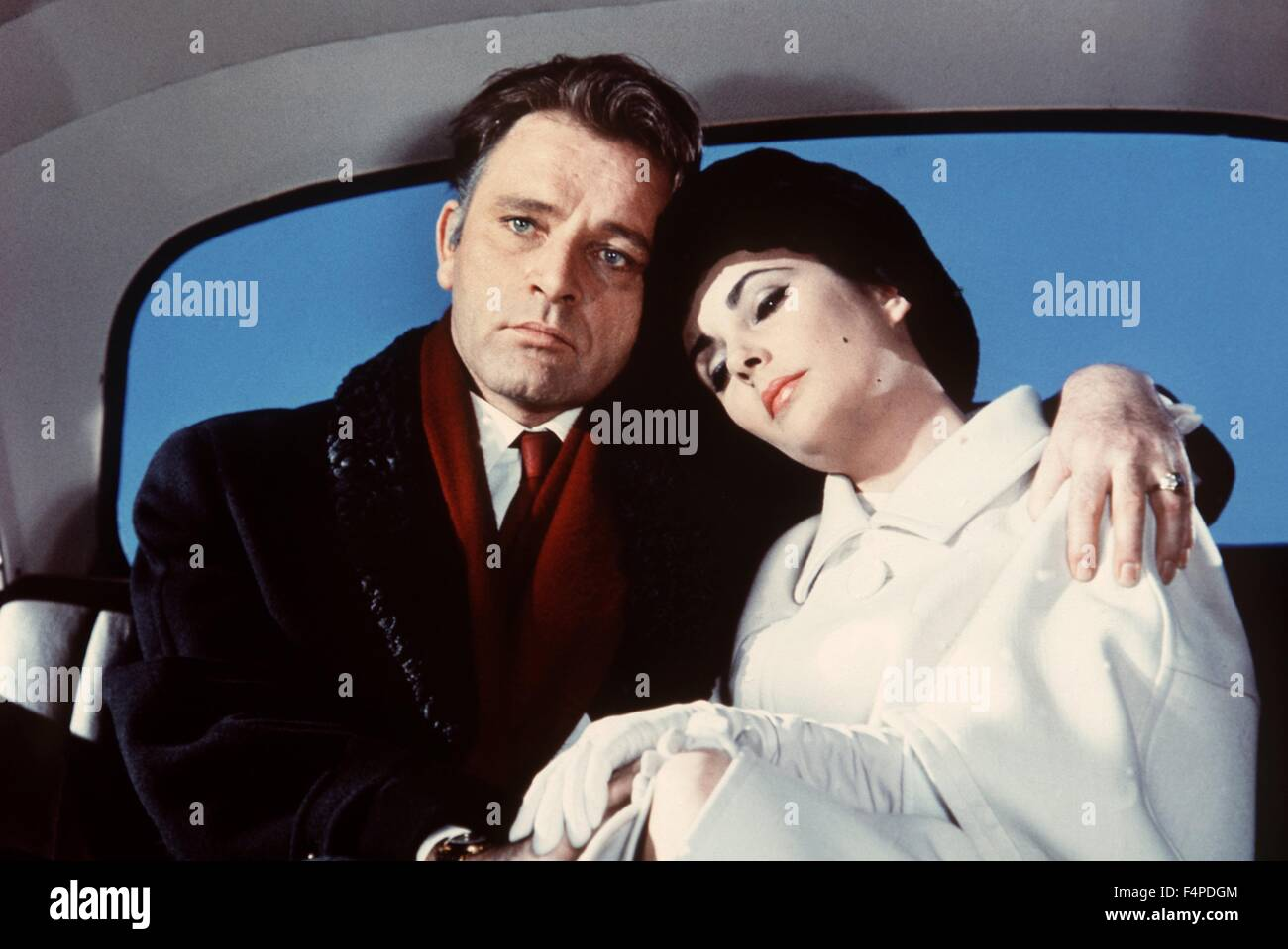 Richard Burton, Elizabeth Taylor / The V.I.P.s 1963 unter der Regie von Anthony Asquith Stockbild
