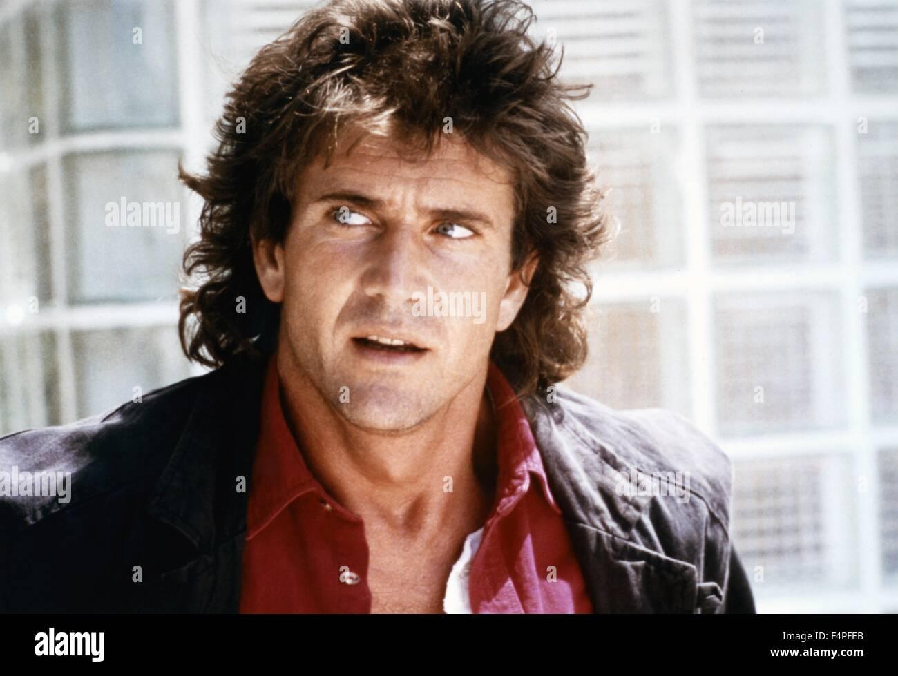 Mel Gibson / Lethal Weapon / 1987 unter der Regie von Richard Donner Stockbild