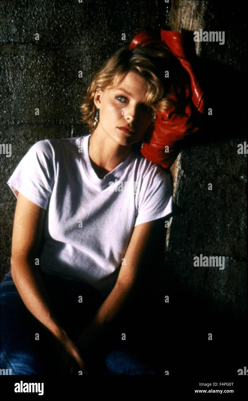 Michelle Pfeiffer / in die Nacht / 1984 unter der Regie von John Landis Stockbild