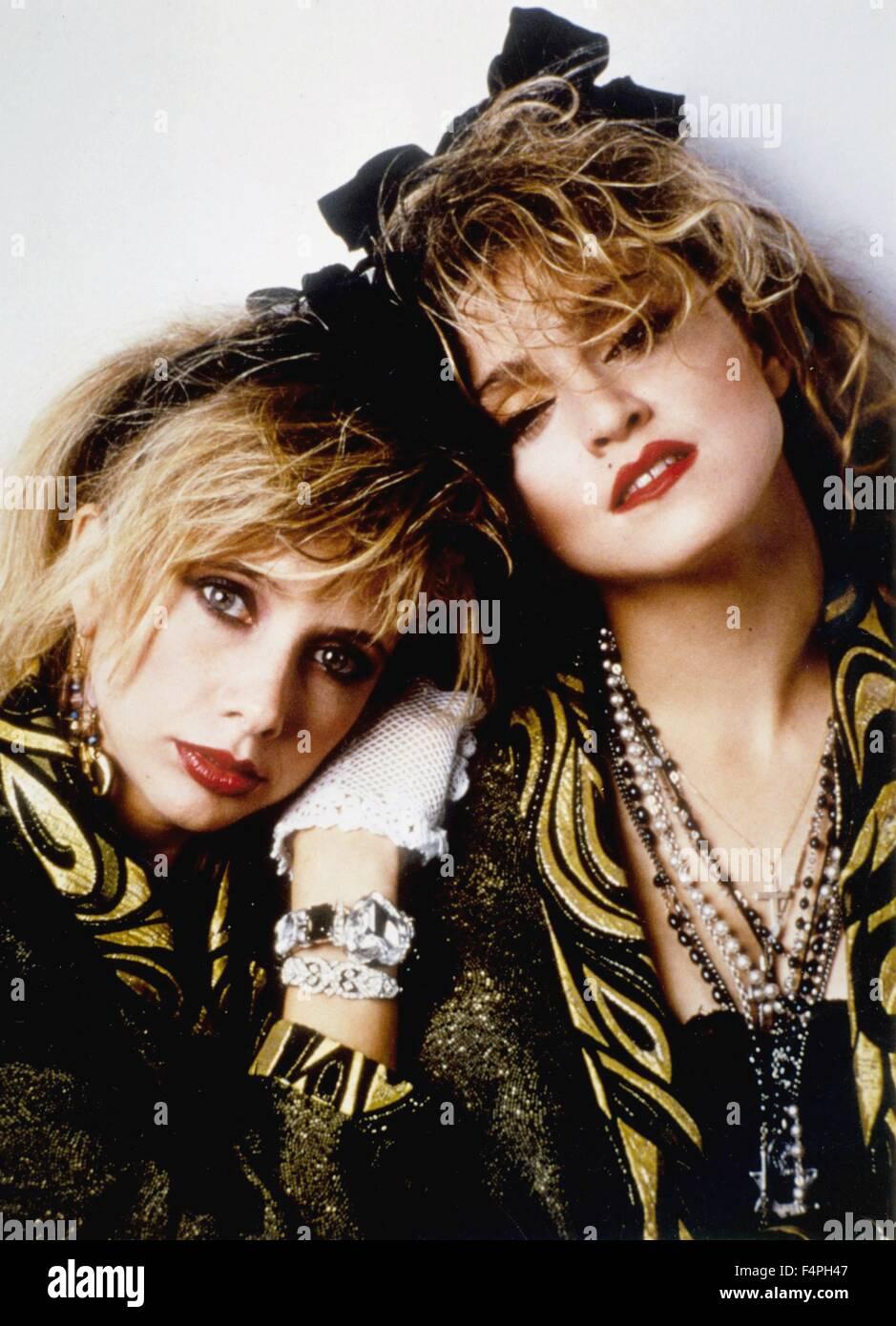Madonna / verzweifelt sucht Susan / 1985 unter der Regie von Susan Seidelman Stockbild