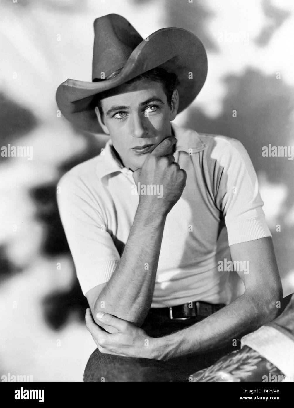 Gary Cooper in den 20er Jahren Stockbild