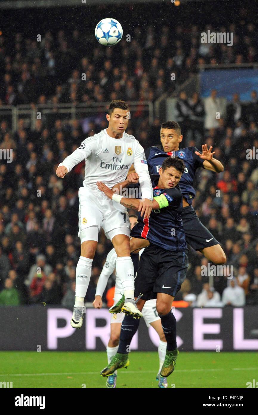 Paris Frankreich 21 Oktober 2015 Uefa Champions League Fußball