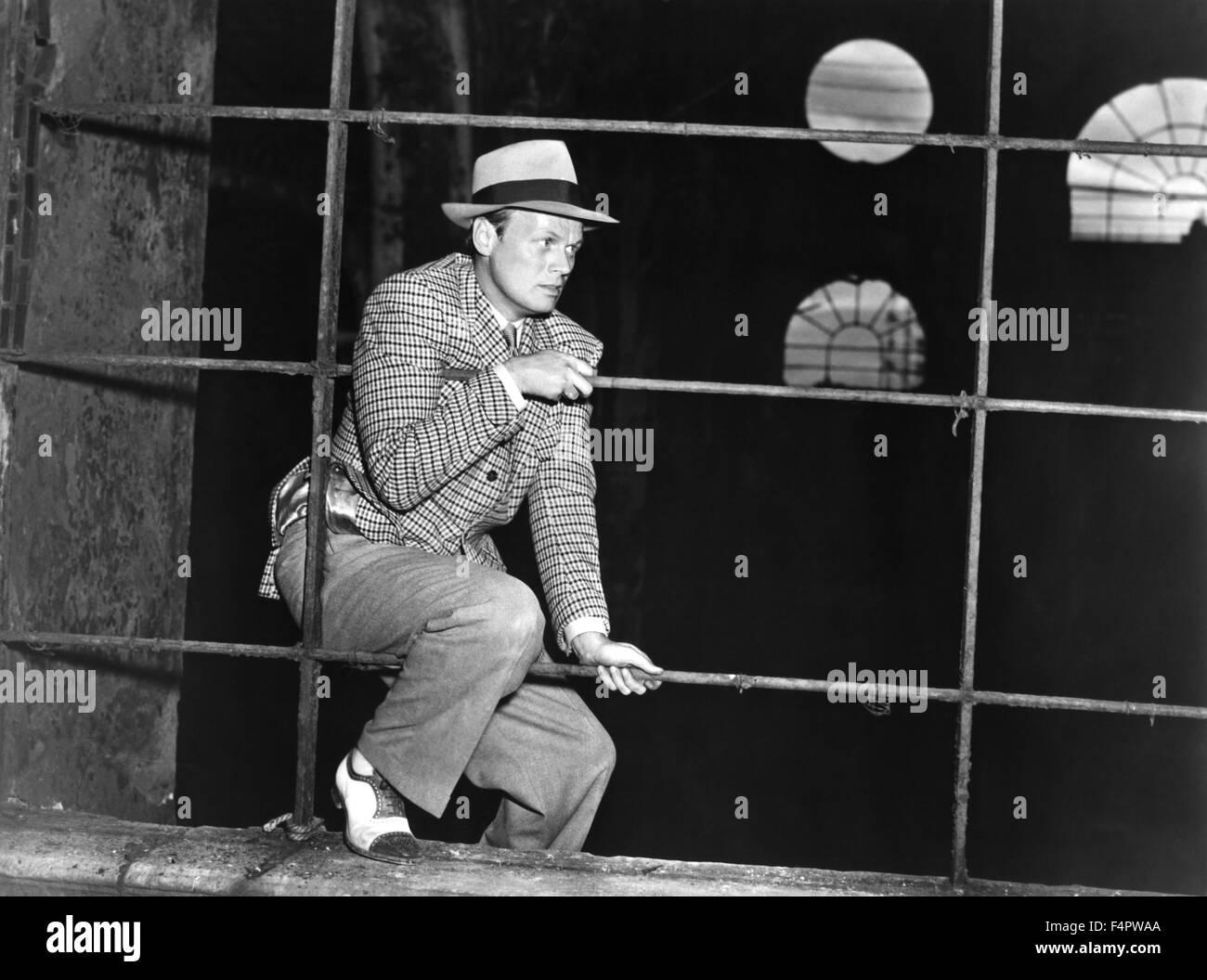 Richard Widmark / Nacht und die Stadt / 1950, Regie: Jules Dassin [zwanzigsten Jahrhundert Fox Film Corpo] Stockbild