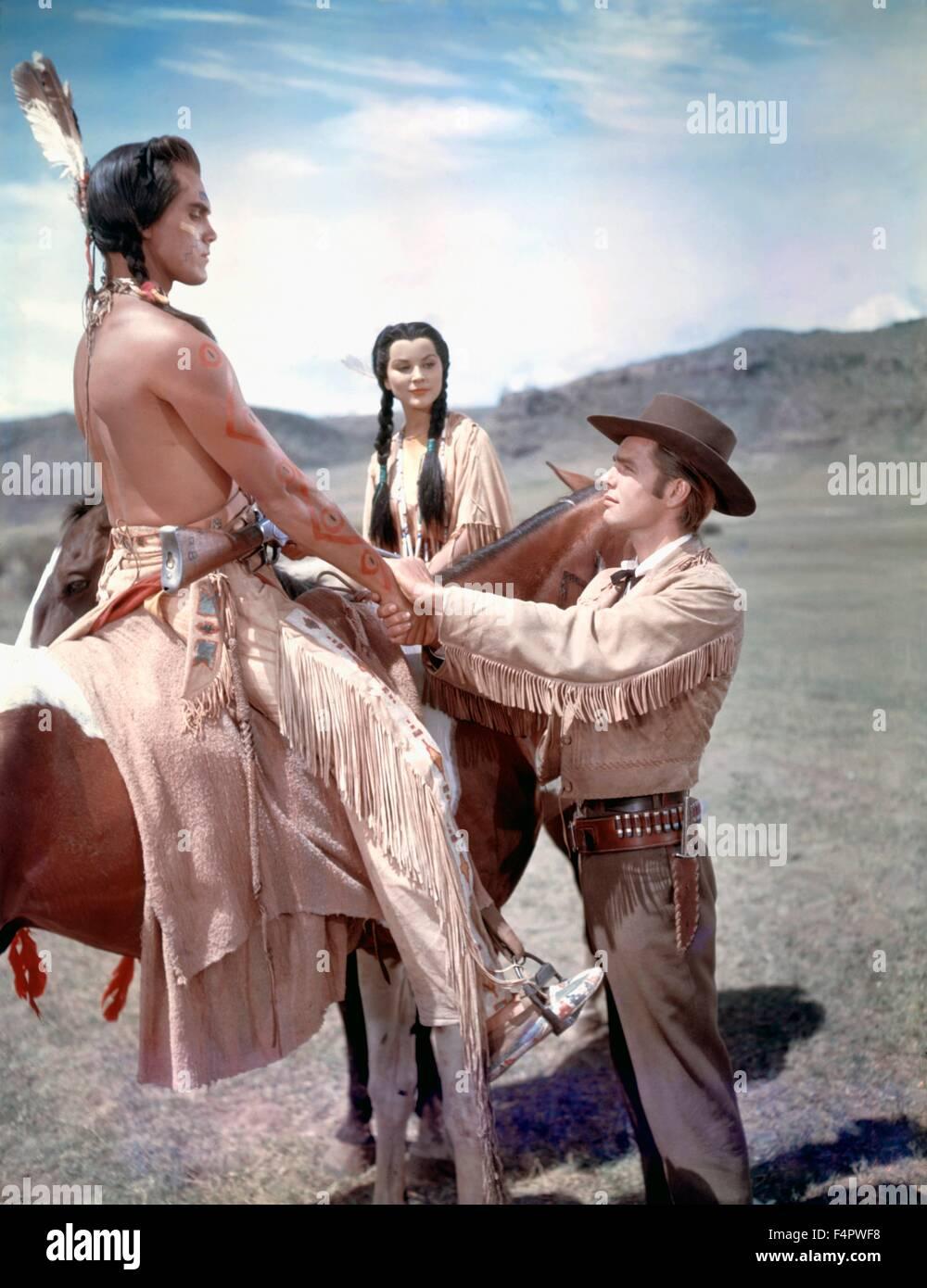 Weiße Feder / 1955 unter der Regie von Robert Webb Stockbild