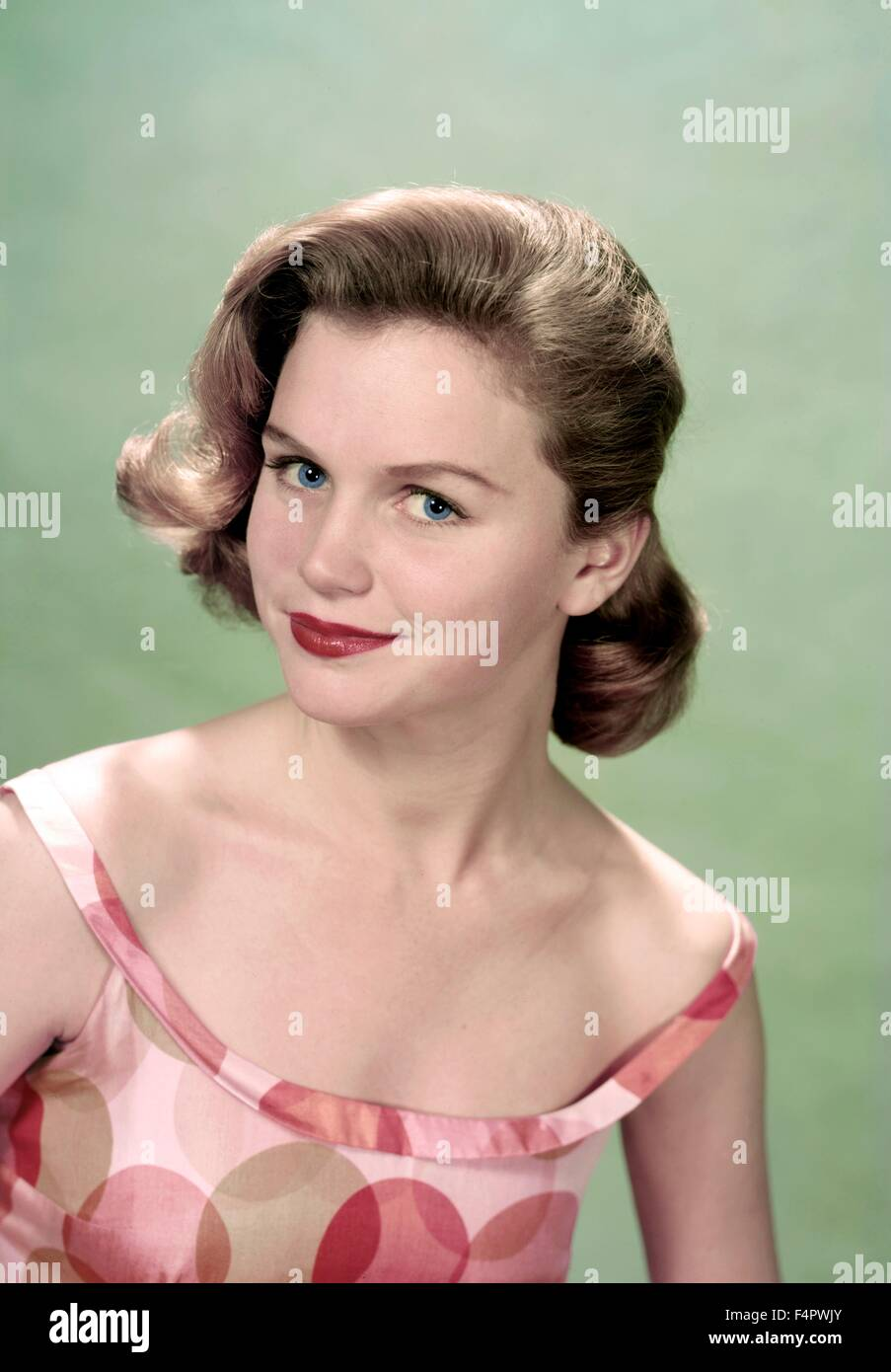 Lee Remick In den 50er Jahren Stockbild
