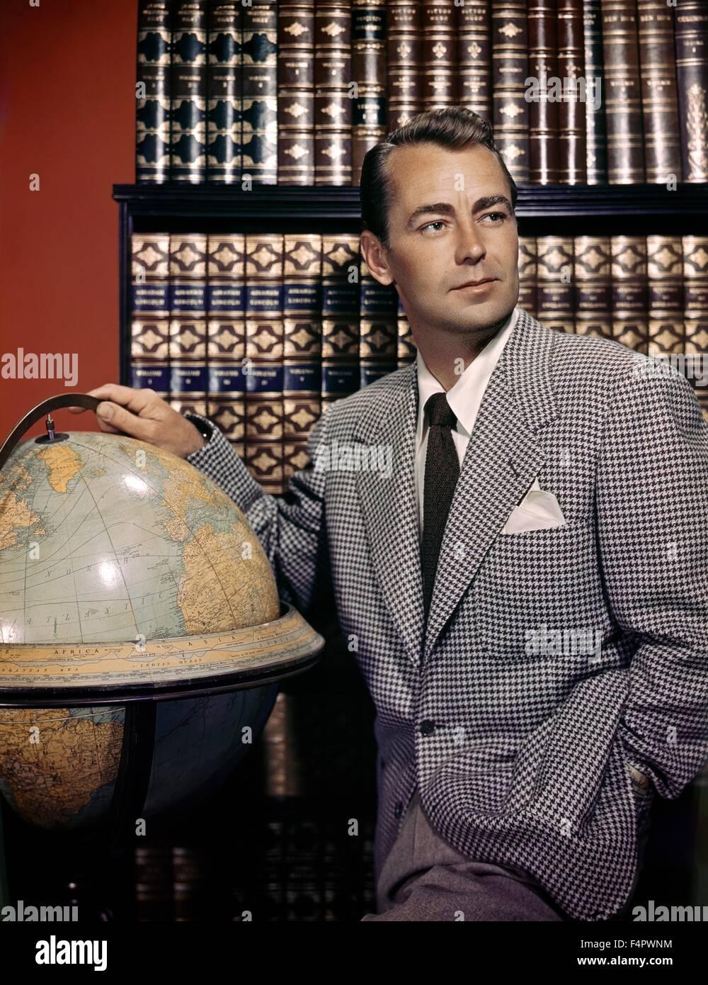 Alan Ladd in den 50er Jahren Stockbild