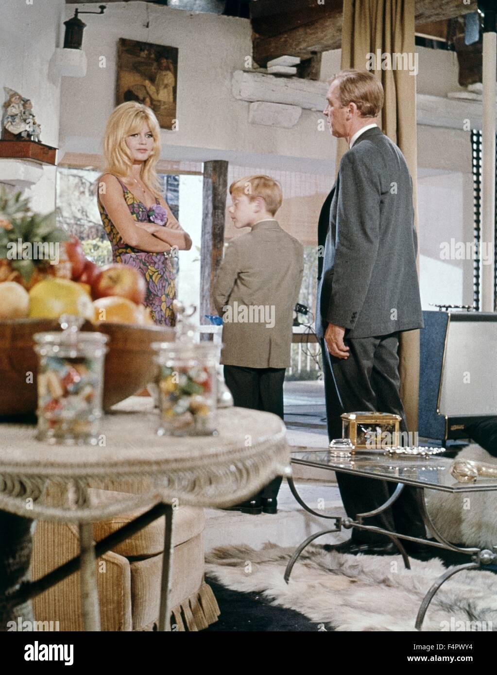 Brigitte Bardot, Billy Mumy und James Stewart / Dear Brigitte / 1965 unter der Regie von Henry Koster [zwanzigsten Stockbild