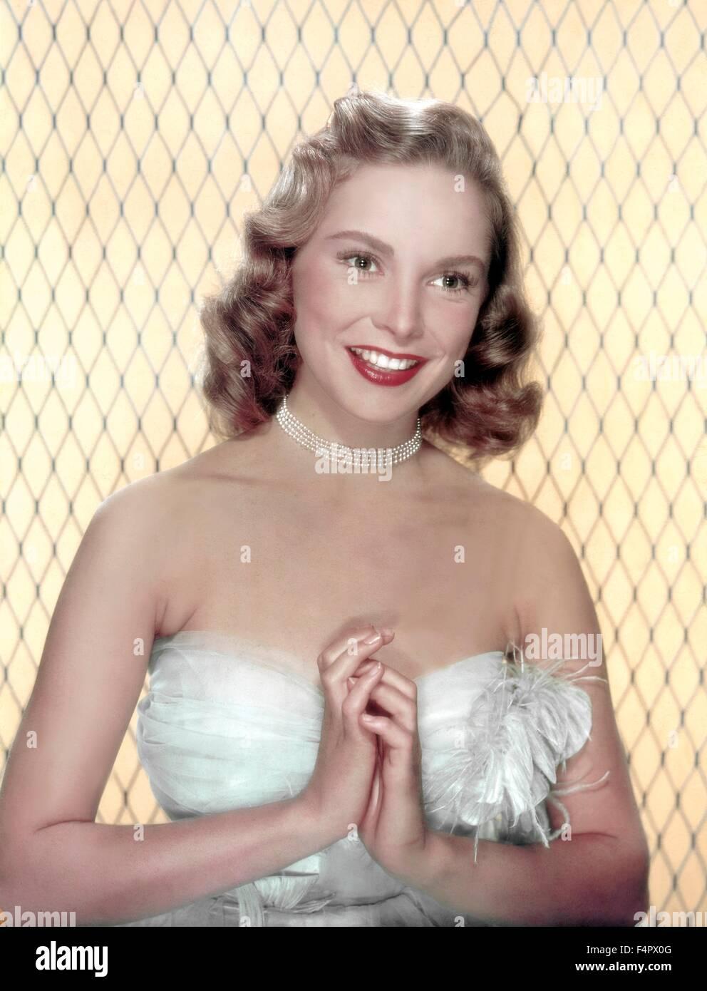 Janet Leigh in den 40er Jahren Stockbild