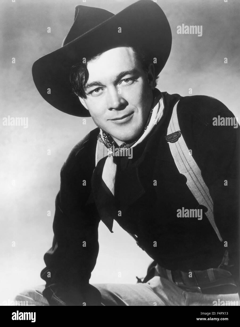 Ben Johnson / Wagon Master / 1950 unter der Regie von John Ford [Argosy Bilder / RKO Radio Pict] Stockbild