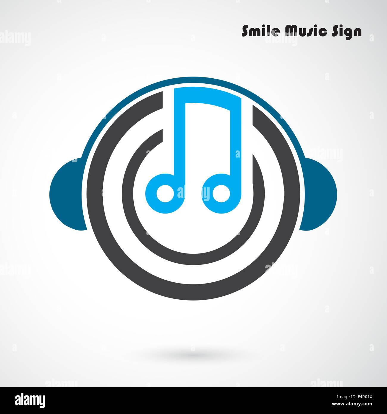 Kreative abstrakte musikalische Gestaltung Logo-Design-Vorlage ...