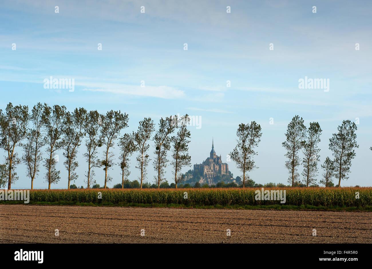 Mont St Michel, Normandie, Frankreich. Oktober 2015 Wikipedia unten: Le Mont Saint-Michel ist eine Gemeinde der Stockfoto