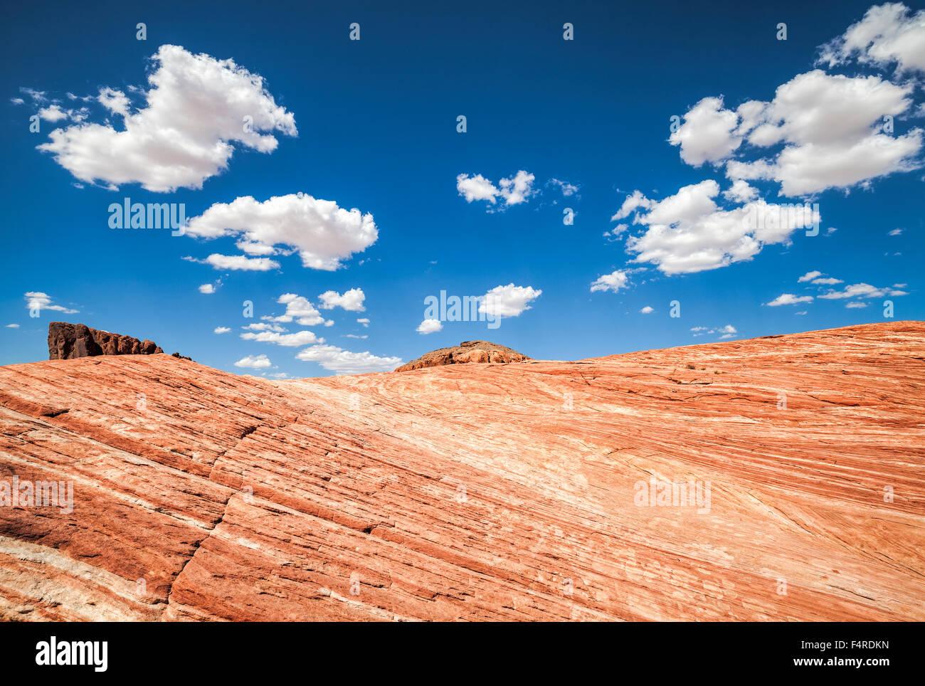 Schöne Landschaft, Valley of Fire, USA. Stockbild