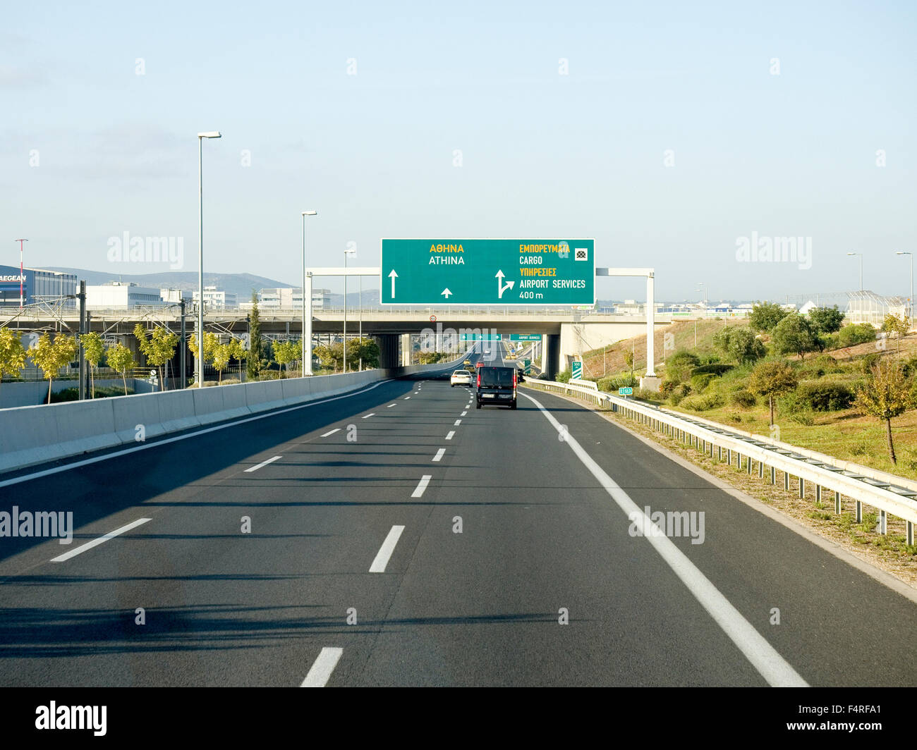 greek road signs stockfotos greek road signs bilder alamy. Black Bedroom Furniture Sets. Home Design Ideas