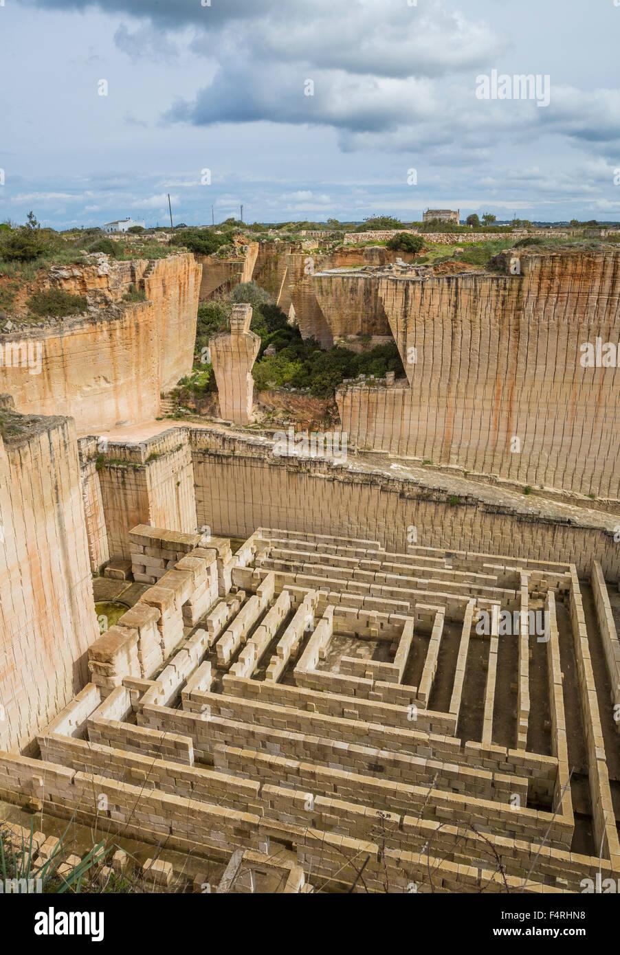 Ciutadella, Stadt, Lithica, Menorca, Insel, Spanien, Europa, S'Hostal, Architektur, Balearen, groß, tief, Stockbild
