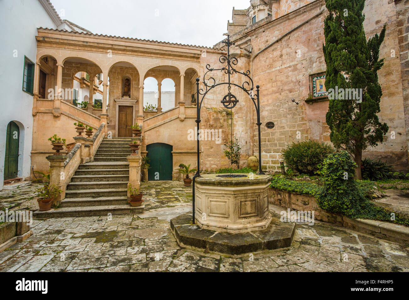 Ciutadella, Stadt, Menorca, Insel, Palast, Spanien, Europa, Balearen, Frühling, Architektur, Bischofspalast, Stockbild