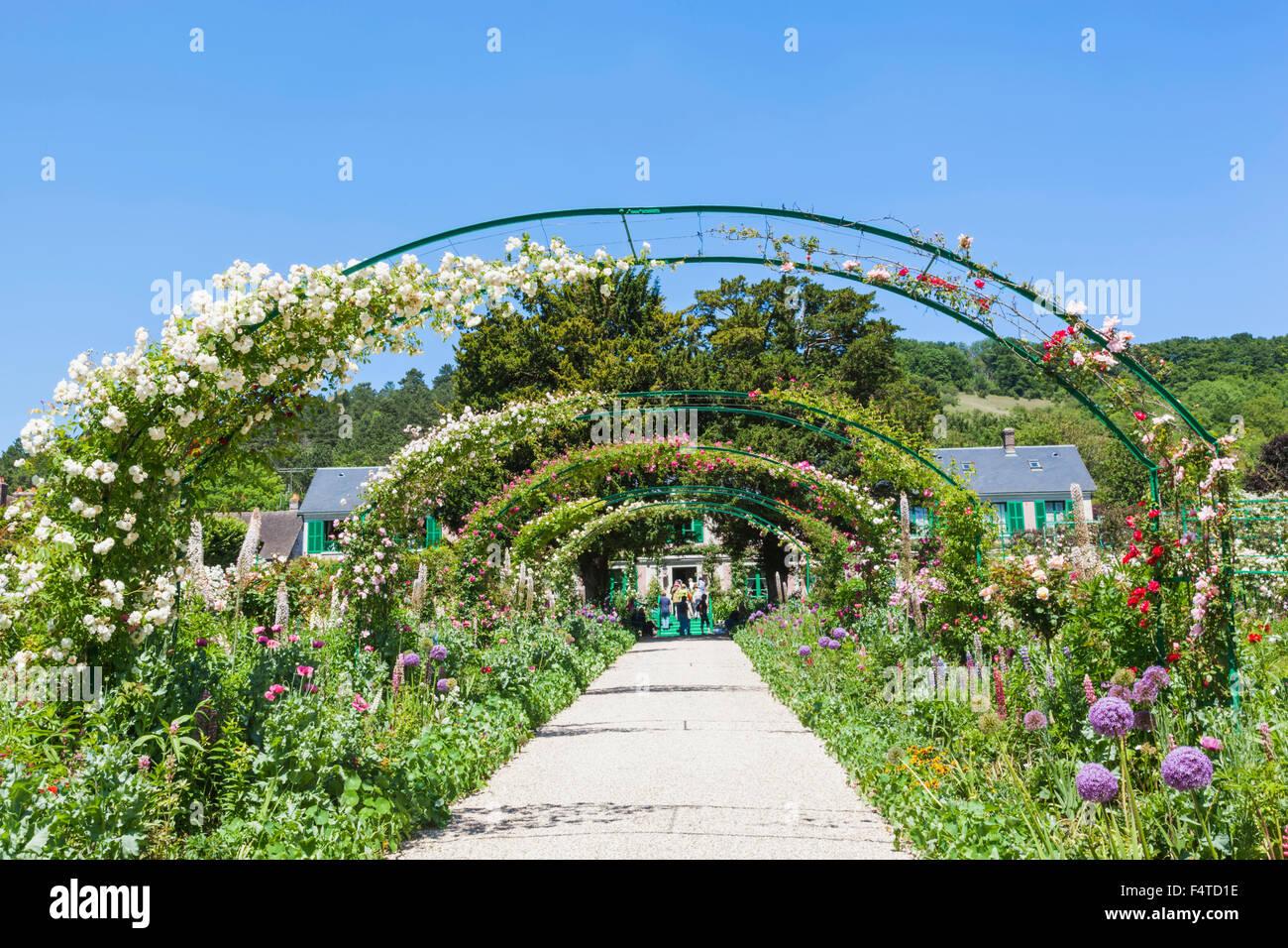 Frankreich, Normandie, Giverny, Monets Haus und Garten Stockbild