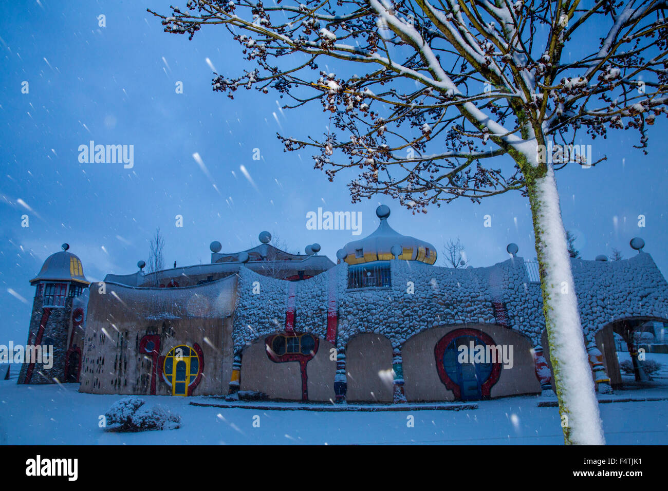 Hundertwasser Markthalle in Altenrhein, Stockbild