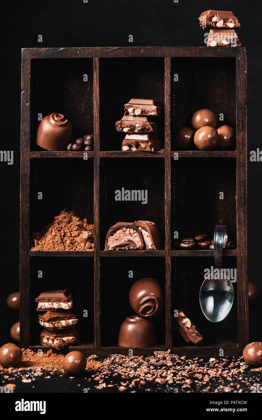 Schokoladen Kollektion Stockbild
