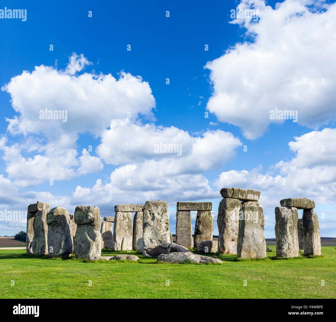 Stonehenge, in der Nähe von Amesbury, Wiltshire, England, UK Stockbild