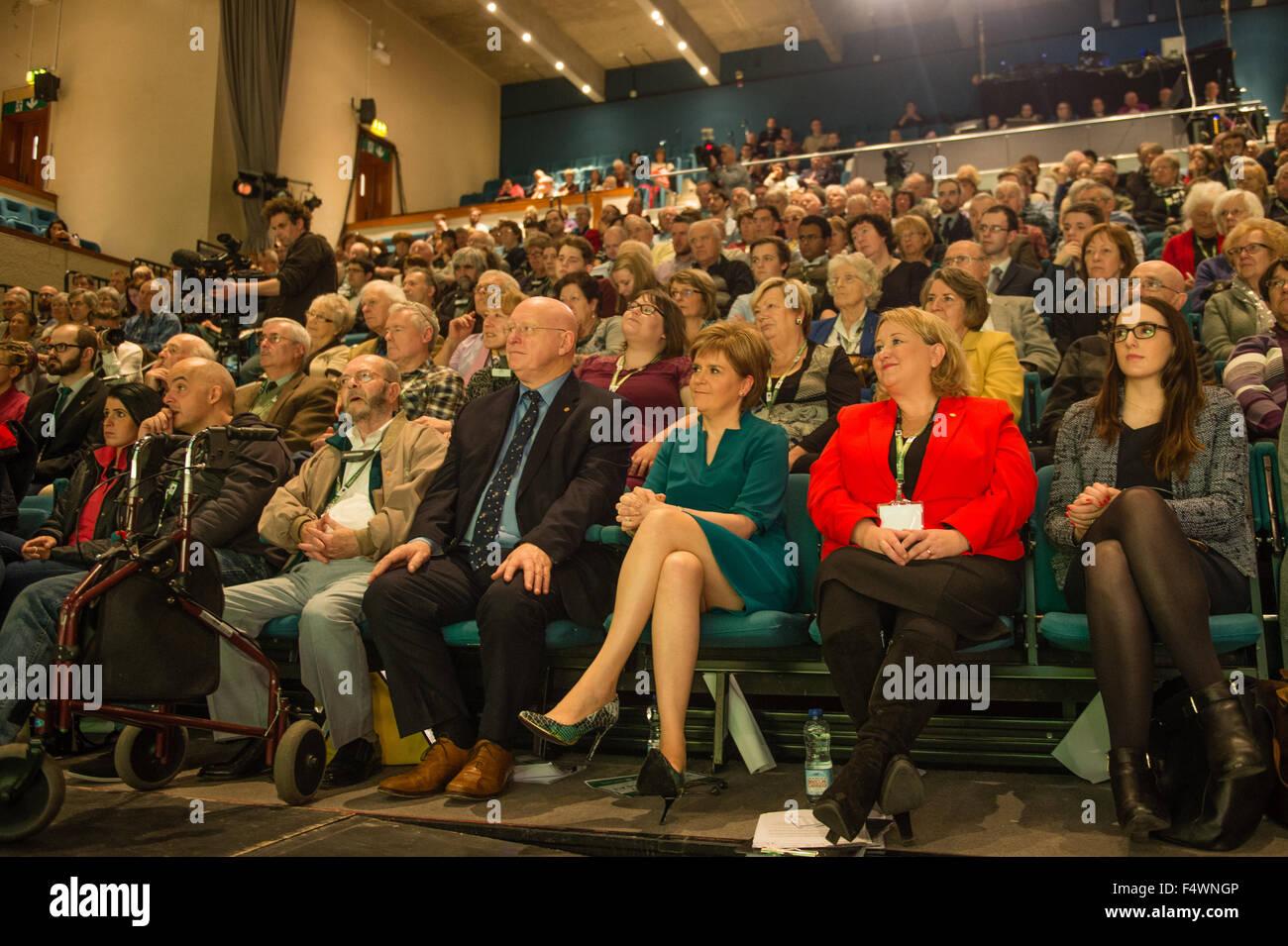 Aberystwyth Wales UK, Freitag, 23. Oktober 2015 britischen Politik: Schottlands erster Minister und Leiter des schottischen Stockbild