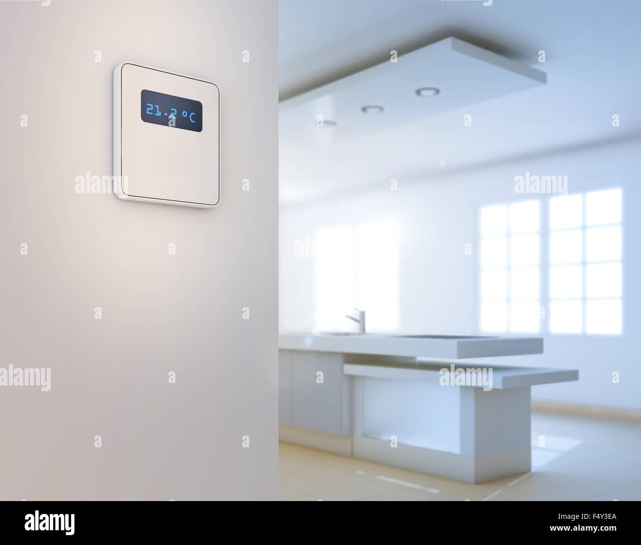 Home-Automation-Hintergrund - intelligentes Haus Konzept Stockbild
