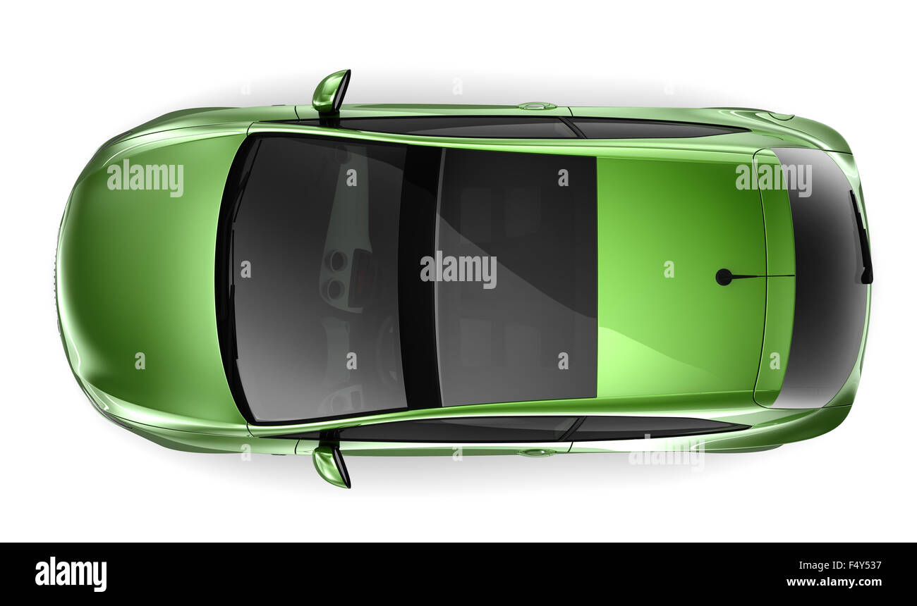 Grünen Kleinwagen Stockbild