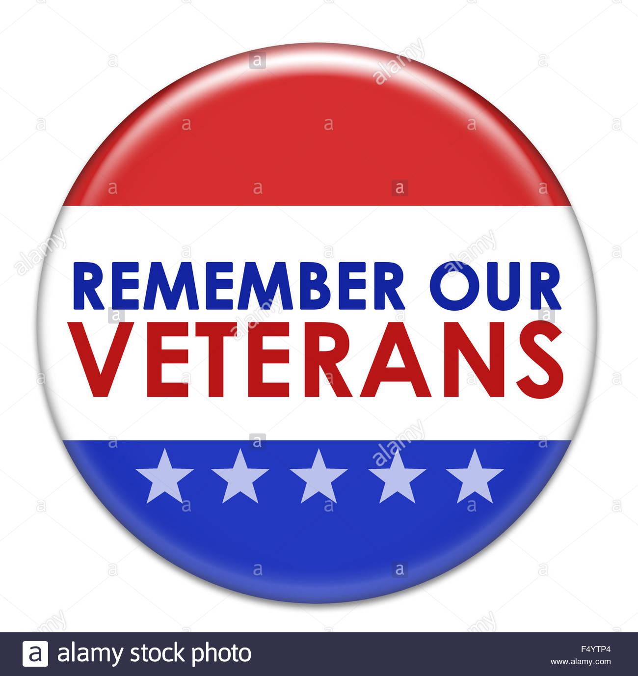 Denken Sie daran, unsere Veteranen-Symbol Stockbild
