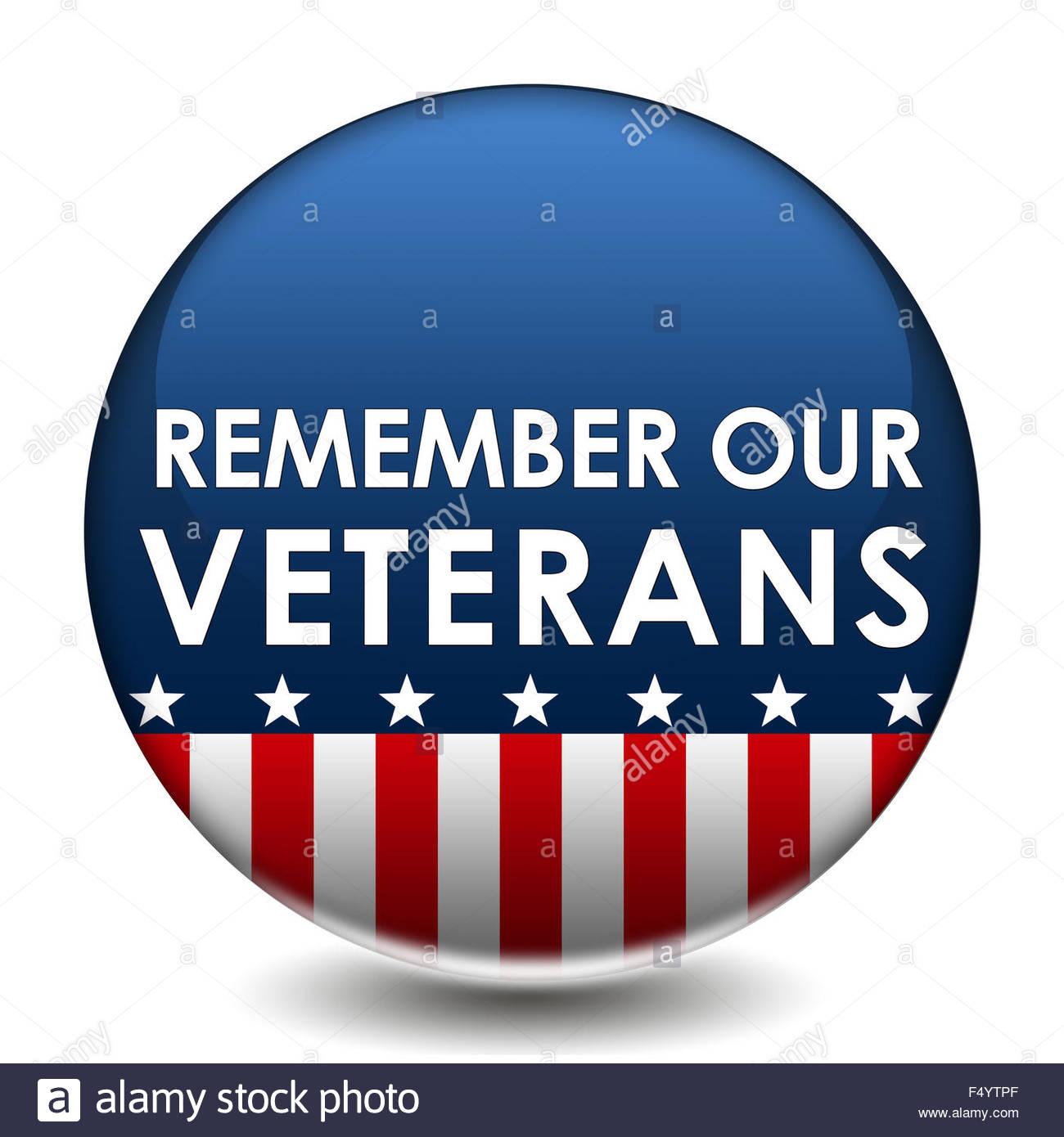 Denken Sie daran, unsere Veteranen Stockbild