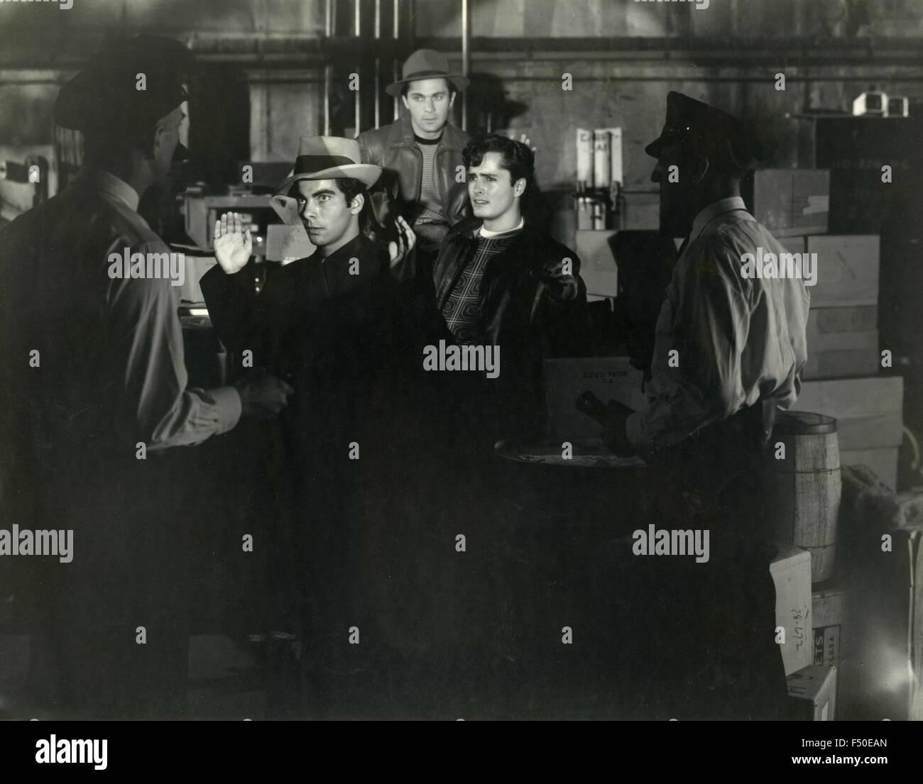 Szene eines Films über das Verbot nicht identifizierten, USA Stockbild