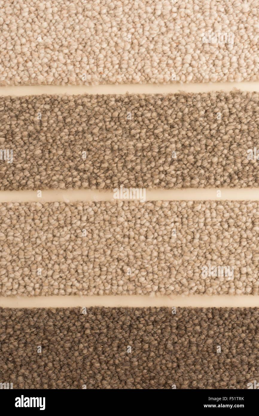 Wolle-Schleife Teppich Probe in natürlichen Farben Schattierungen Stockbild