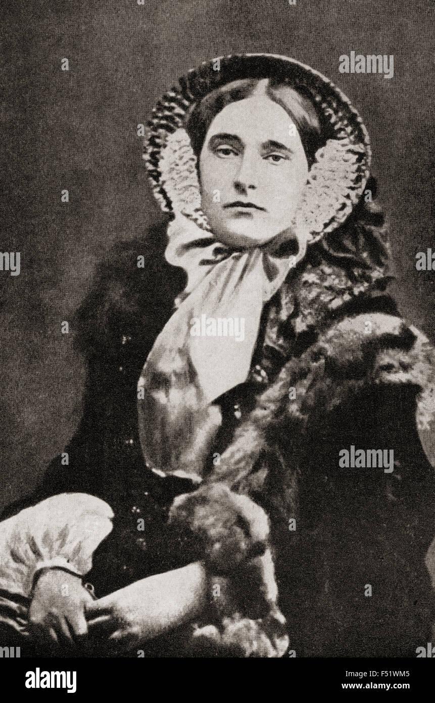 Mathilde Laetitia Wilhelmine Bonaparte, 1820 ? 1904.   Französische Prinzessin. Stockbild