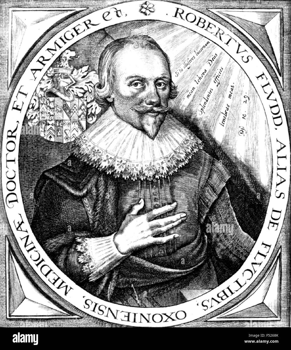ROBERT FLUDD (1574-1637) Gravur englischer Astrologe und Student des okkulten Stockbild