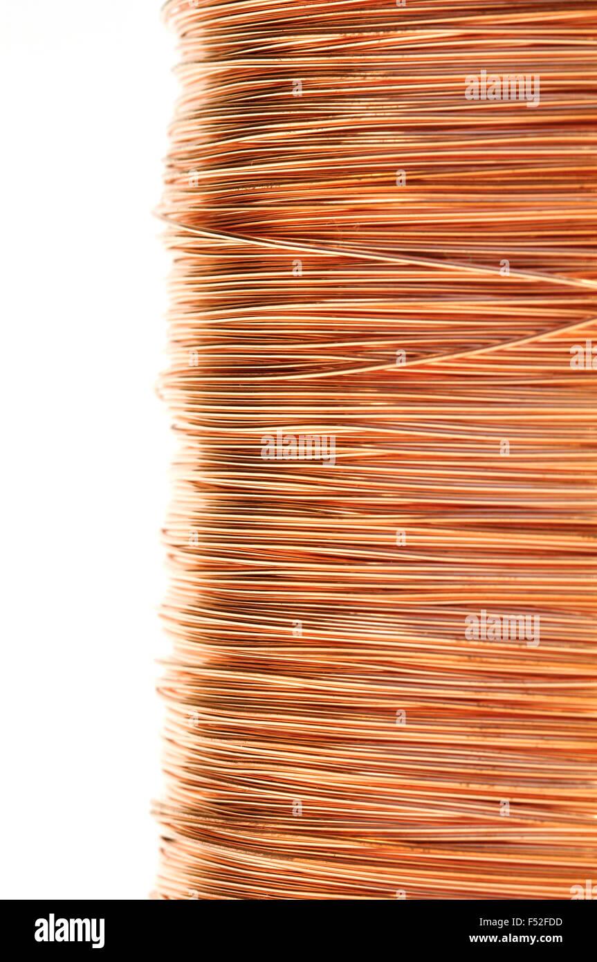 Wickeln von Kupferdraht, schließen Stockfoto, Bild: 89181161 - Alamy