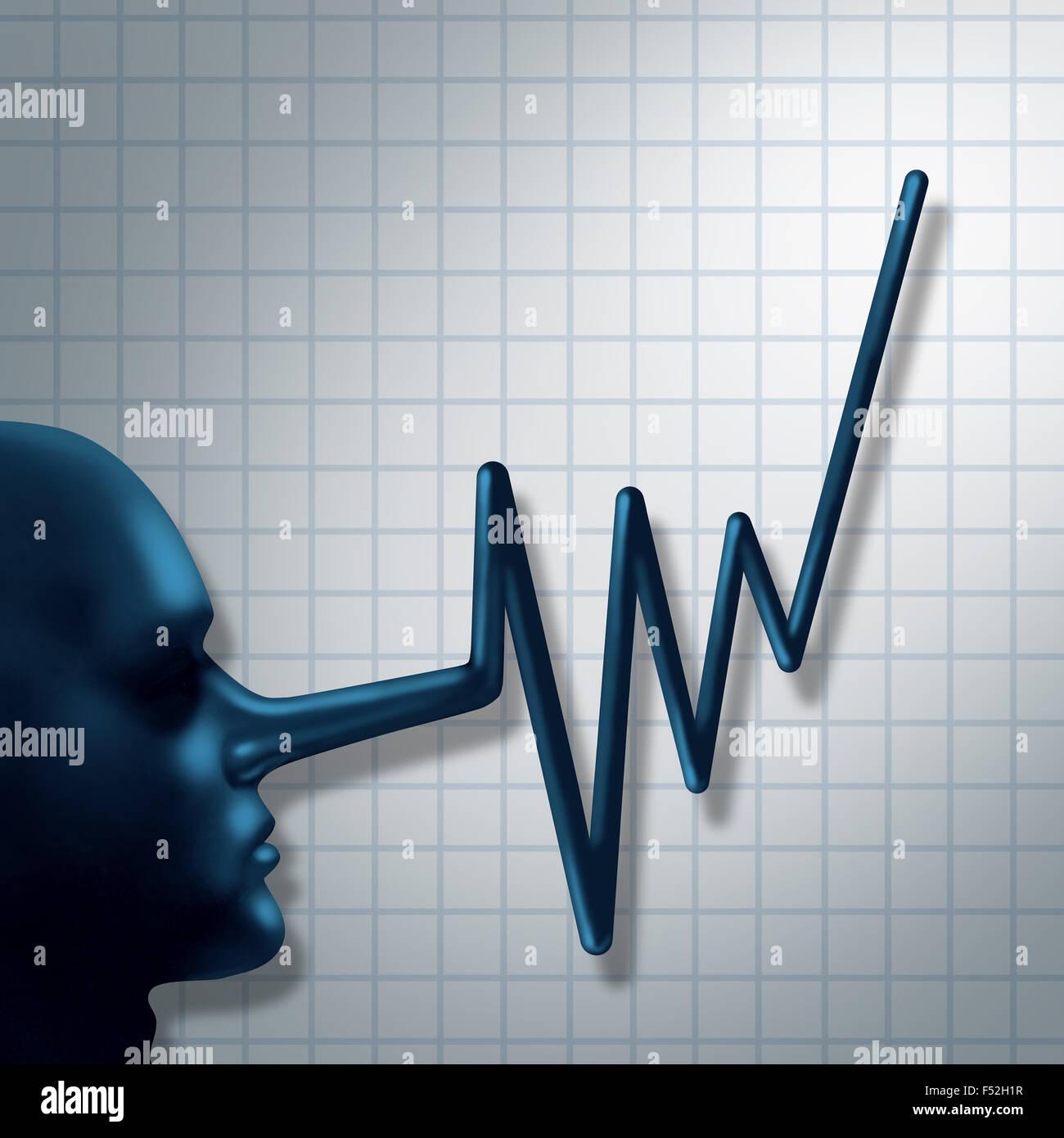 Finanzbetrug und falsche Berichterstattung Kriminalität Finanzkonzept als Chefsache Person Symbol mit langer Stockbild