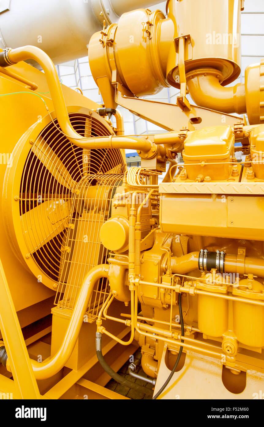 Frisch lackiert Industrie Motor mit Ventilator Stockbild