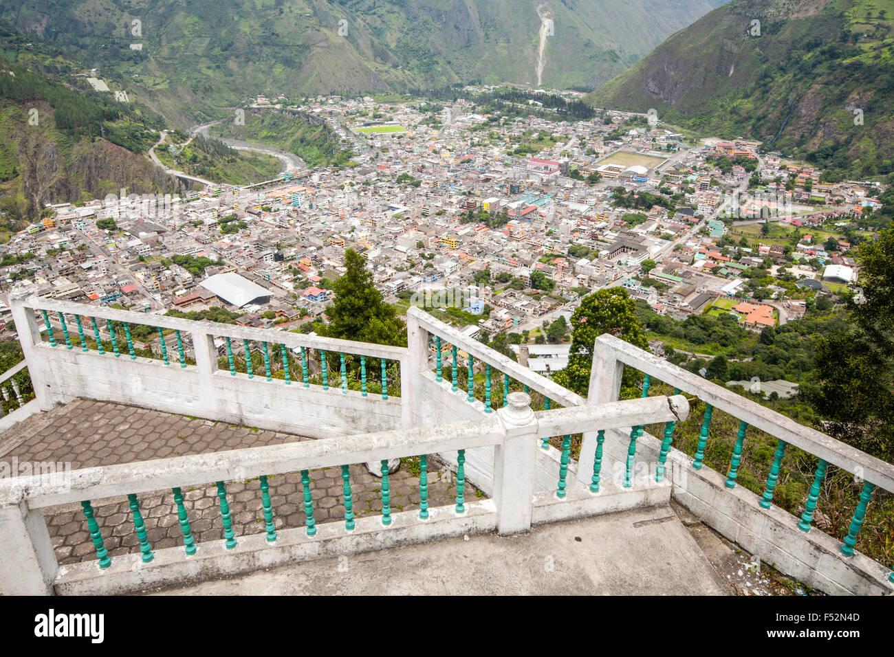 Banos Kanton ist ein Kanton von Ecuador in der Provinz Tungurahua Blick vom Mirador De La Jungfrau entfernt Stockfoto