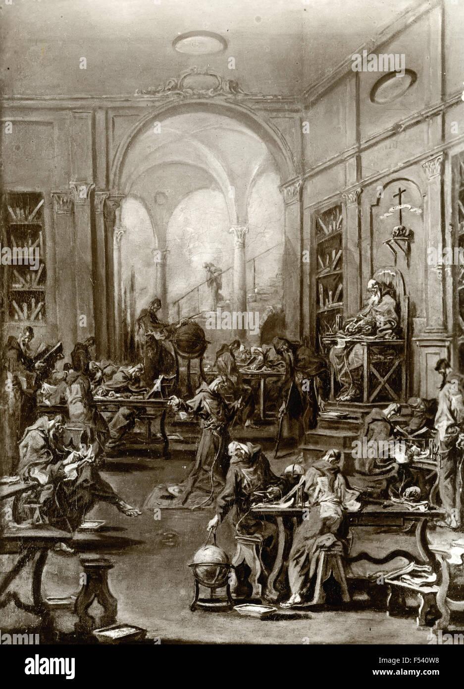 Malerei aus der Jesuitenschule, zweiten Hälfte des siebzehnten Jahrhunderts, venezianische Schule, Italien Stockbild