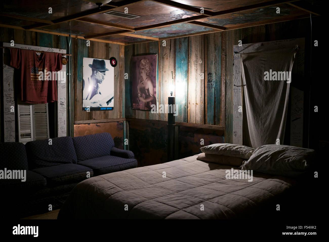 Schlafzimmer in Kabine The Shack, Inn ein Cotton Pickers Themenhotel ...