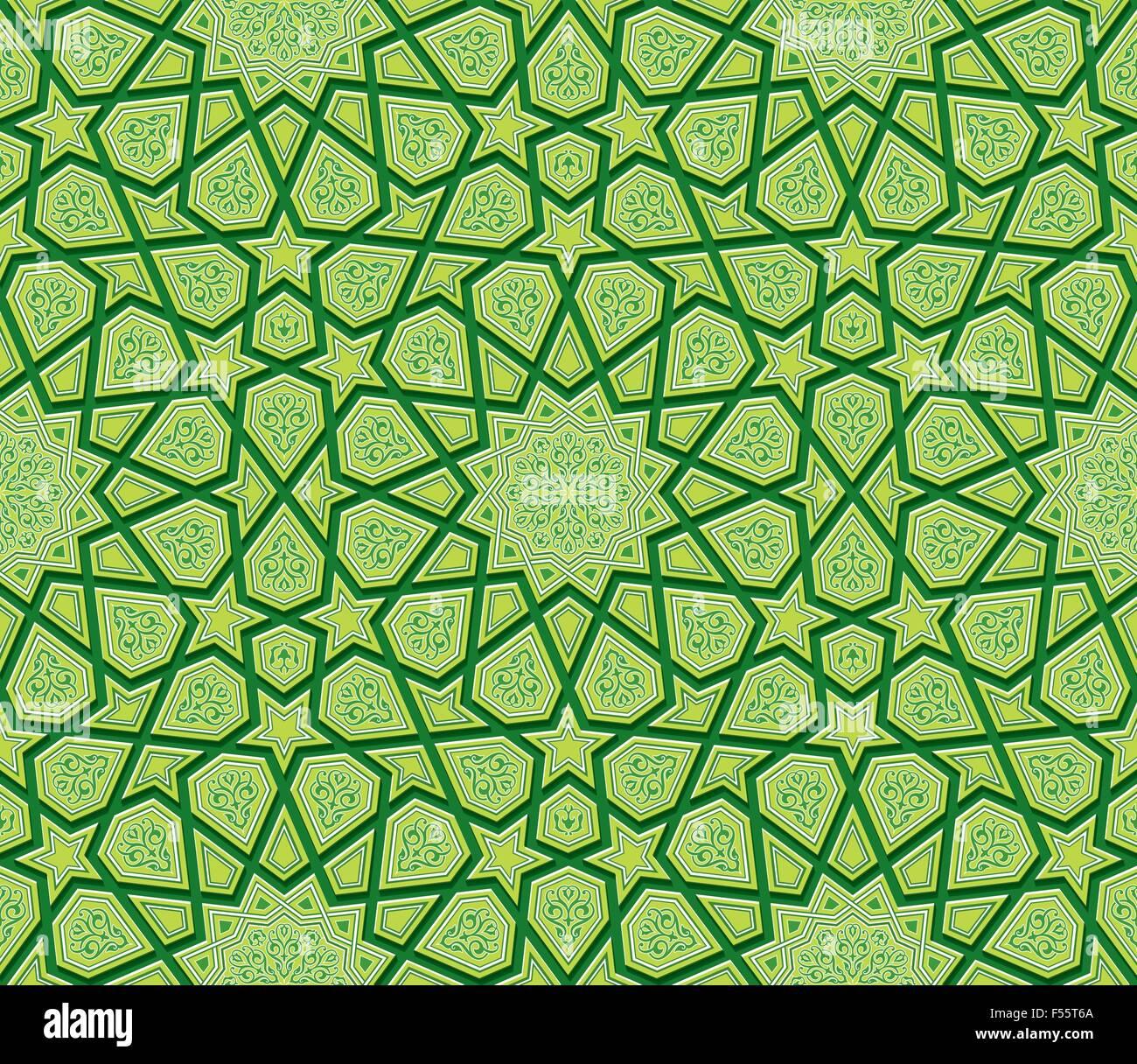 Islamische Stern Ornament Gr 252 Nen Hintergrund Vektor