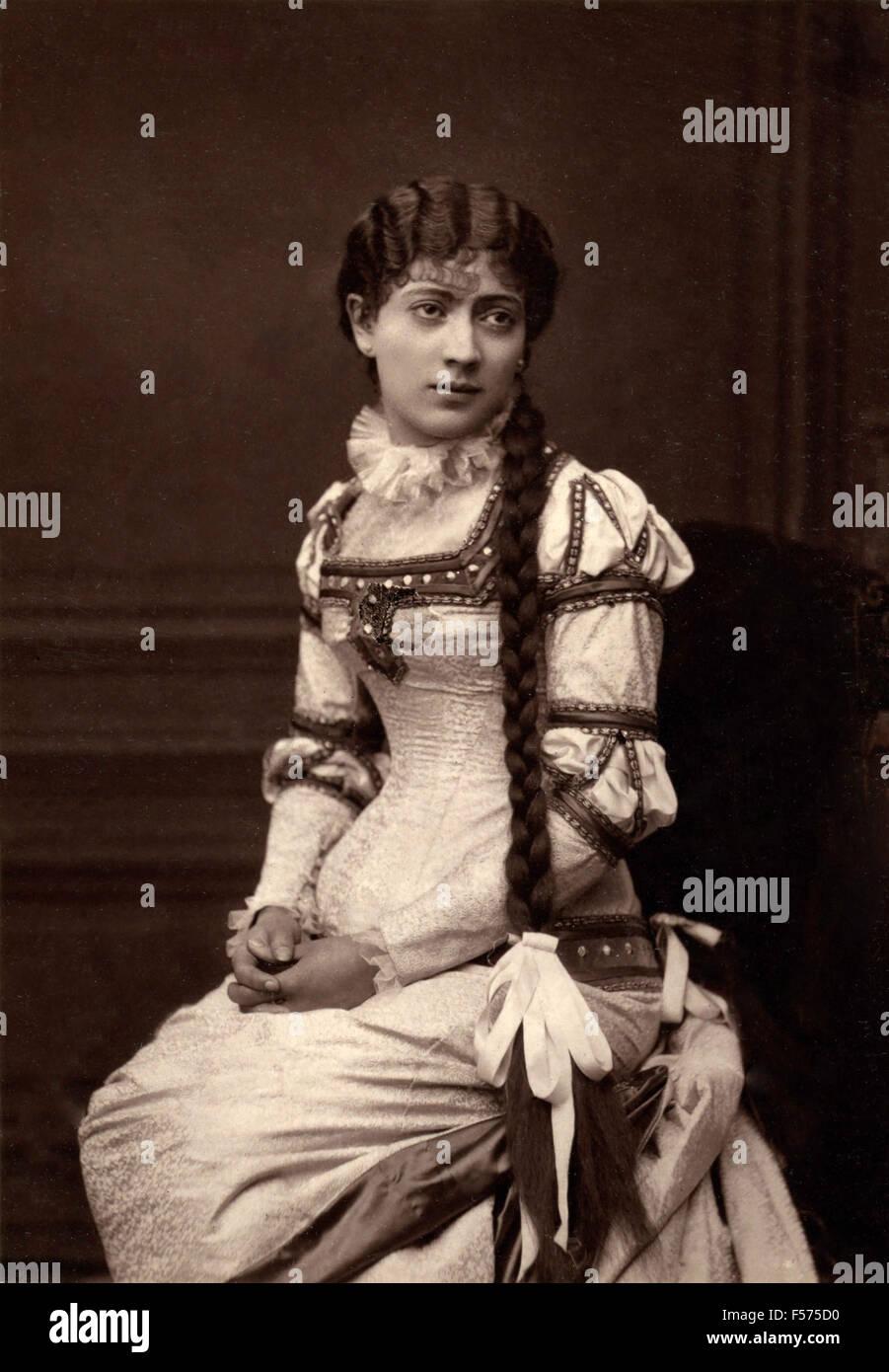 Die Schauspielerin Jane Hading La Renaissance Stockbild