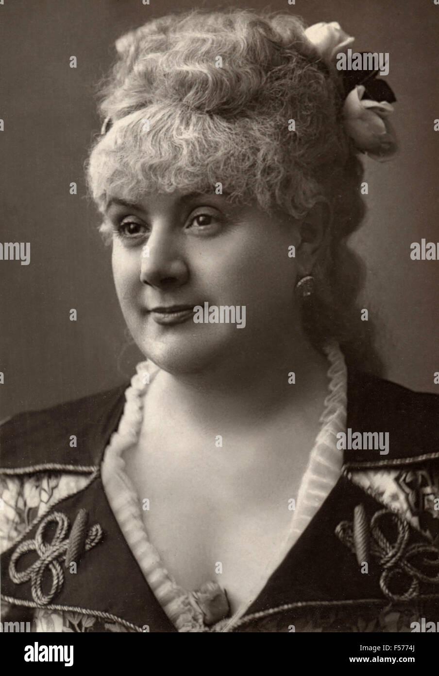 Die Schauspielerin Desclauzas der Renaissance Stockbild
