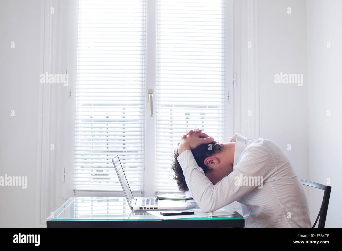 Stress am Arbeitsplatz Stockbild