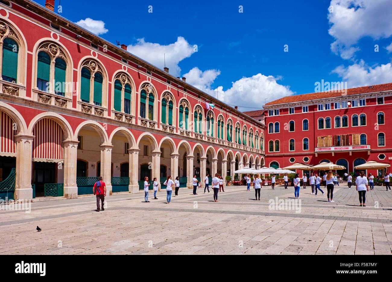Kroatien, Dalmatien, Split, Unesco Weltkulturerbe, République, Altstadt Stockbild