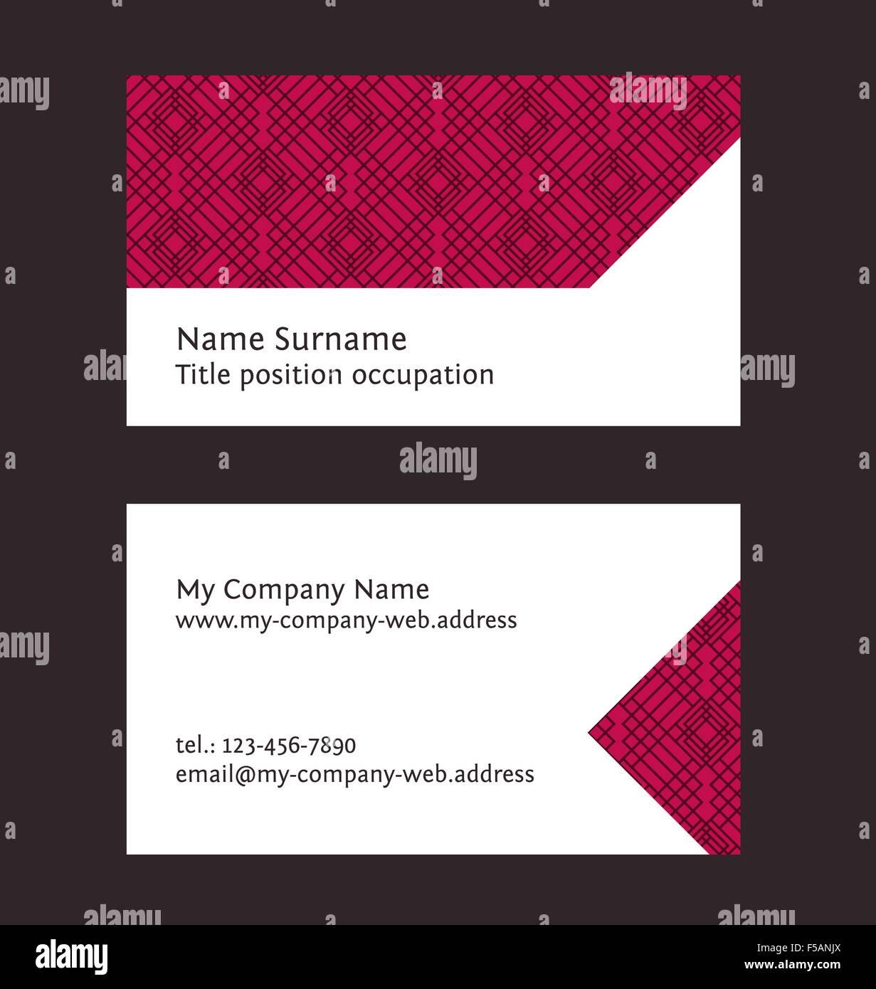 visitenkarten layout lineare geometrische muster editierbare design vorlage - Muster Visitenkarten