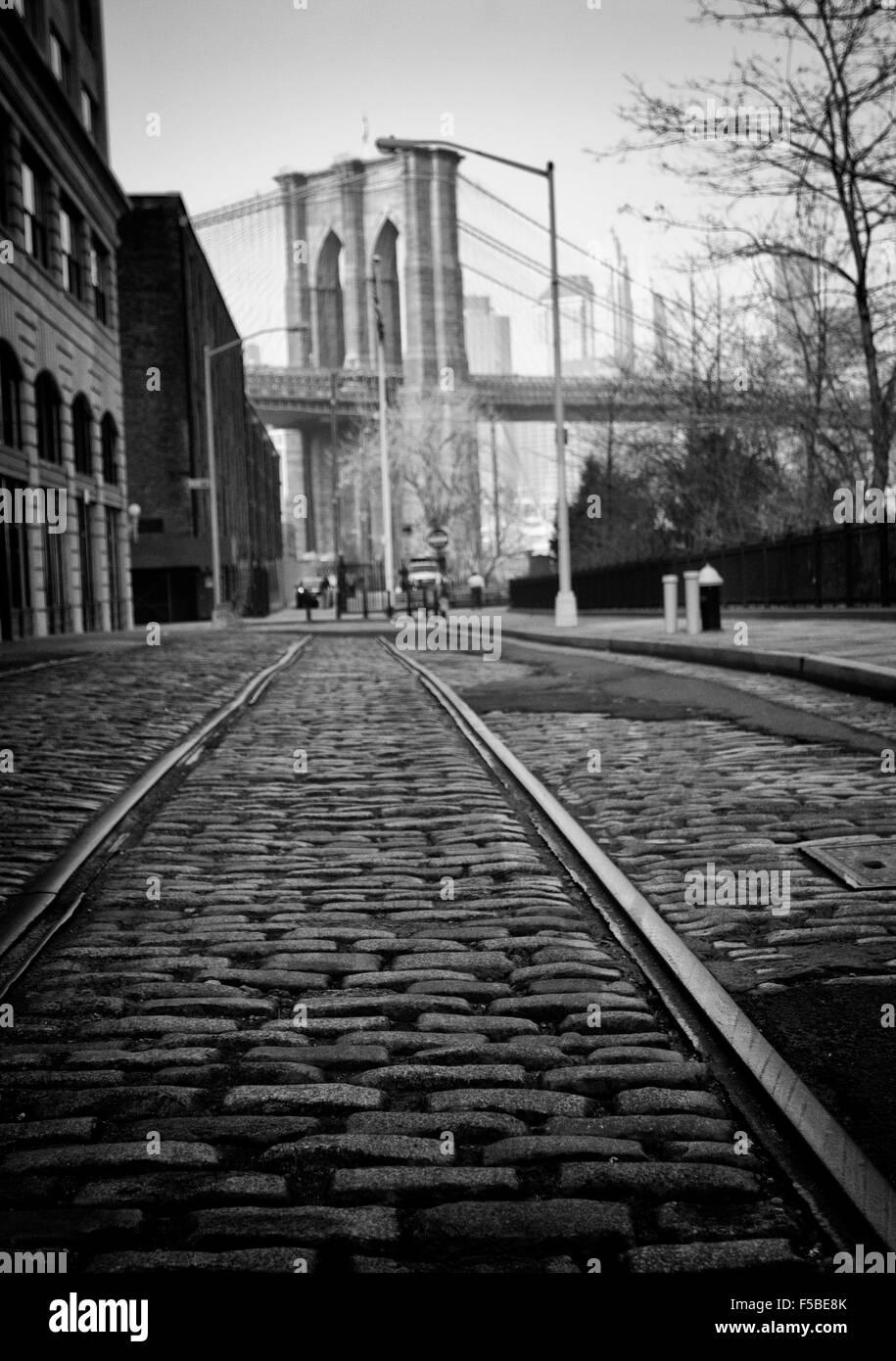 Brooklyn-Tracks Stockbild